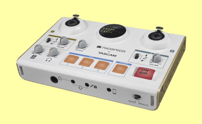 l'interfaccia tascam ministudio creator, con due ingressi xlr