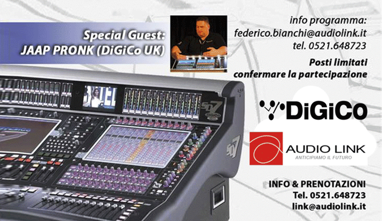la locandina dei Workshop Digico SD Series