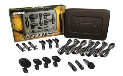 il kit Shure PGA DrumKit 7, un set completo di microfoni per batteria