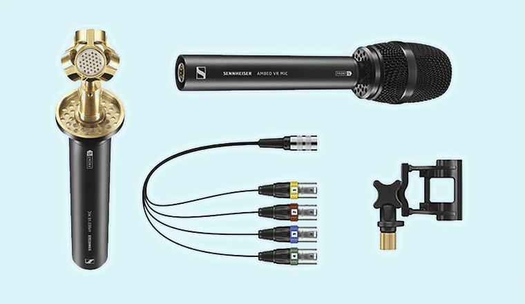 i componenti del microfono sennheiser ambeo vr mic