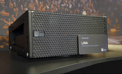 un modulo del piccolo line array meyer sound lina