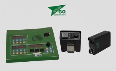 il sistema intercom digitale green go: stazione fissa, beltpack a filo e wireless