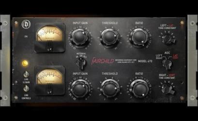 il pannello frontale dello stereo compressor/limiter Fairchild 670