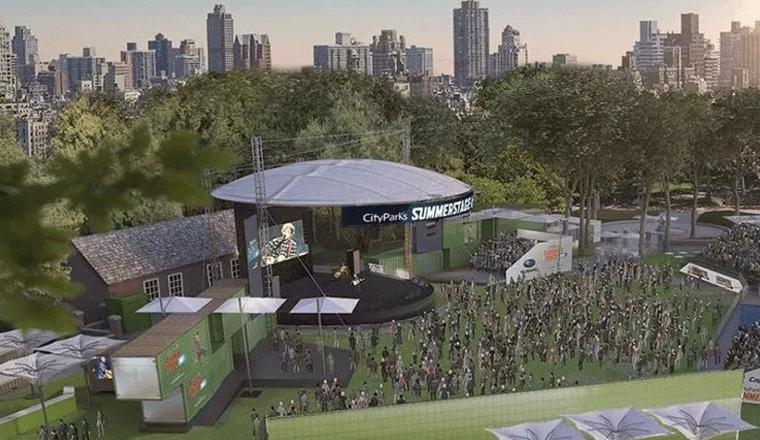 Il Summerstage di Central Park nel rendering del progettista