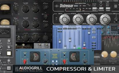 Locandina corso compressori e limiter - Audiogrill