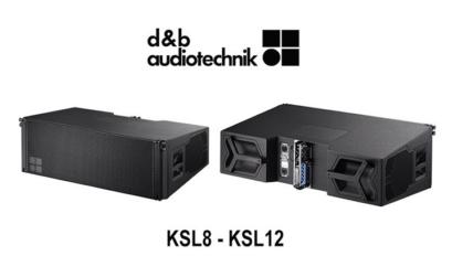 il modulo d&B ksl8 visto di fronte e dal retro